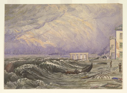 Calcutta from the Strand during the cyclone of 5 October 1864